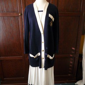 Vintage Jeffrey & Dara Nautical skirt/cardigan set